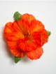 Single Hibiscus  Hair Clip - #32 orange