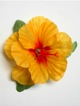 Single Hibiscus  Hair Clip - #33 light orange