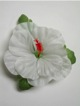 Single Hibiscus  Hair Clip - #35 white