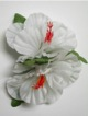 Double Hibiscus hair clip #35 white