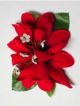 Plumeria hair clip #29 Red