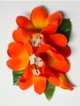 Plumeria hair clip #32 Orange
