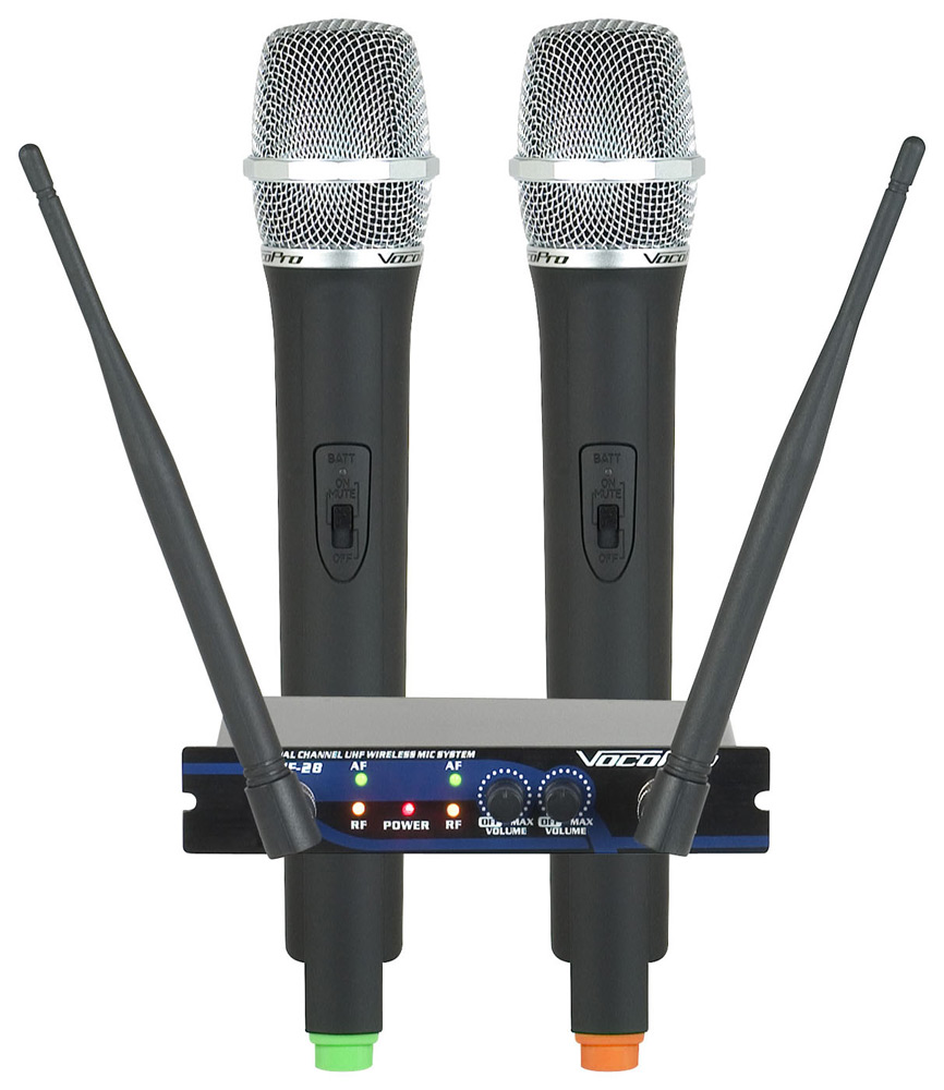 Vocopro UHF 28 Dual Channel Wireless Microphone System 900MHz