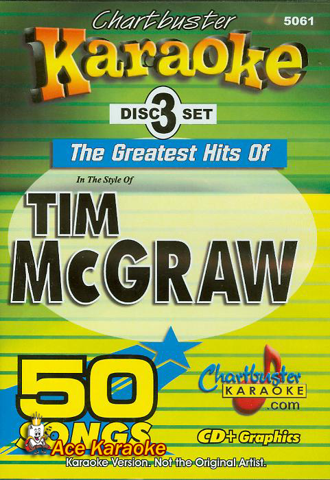 Chartbuster Karaoke CDG CB5061 The Greatest Hits of Tim McGraw
