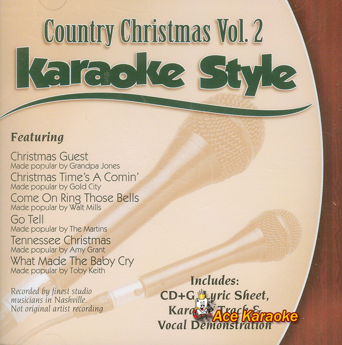 daywind karaoke style cdg 9682 country christmas vol 2