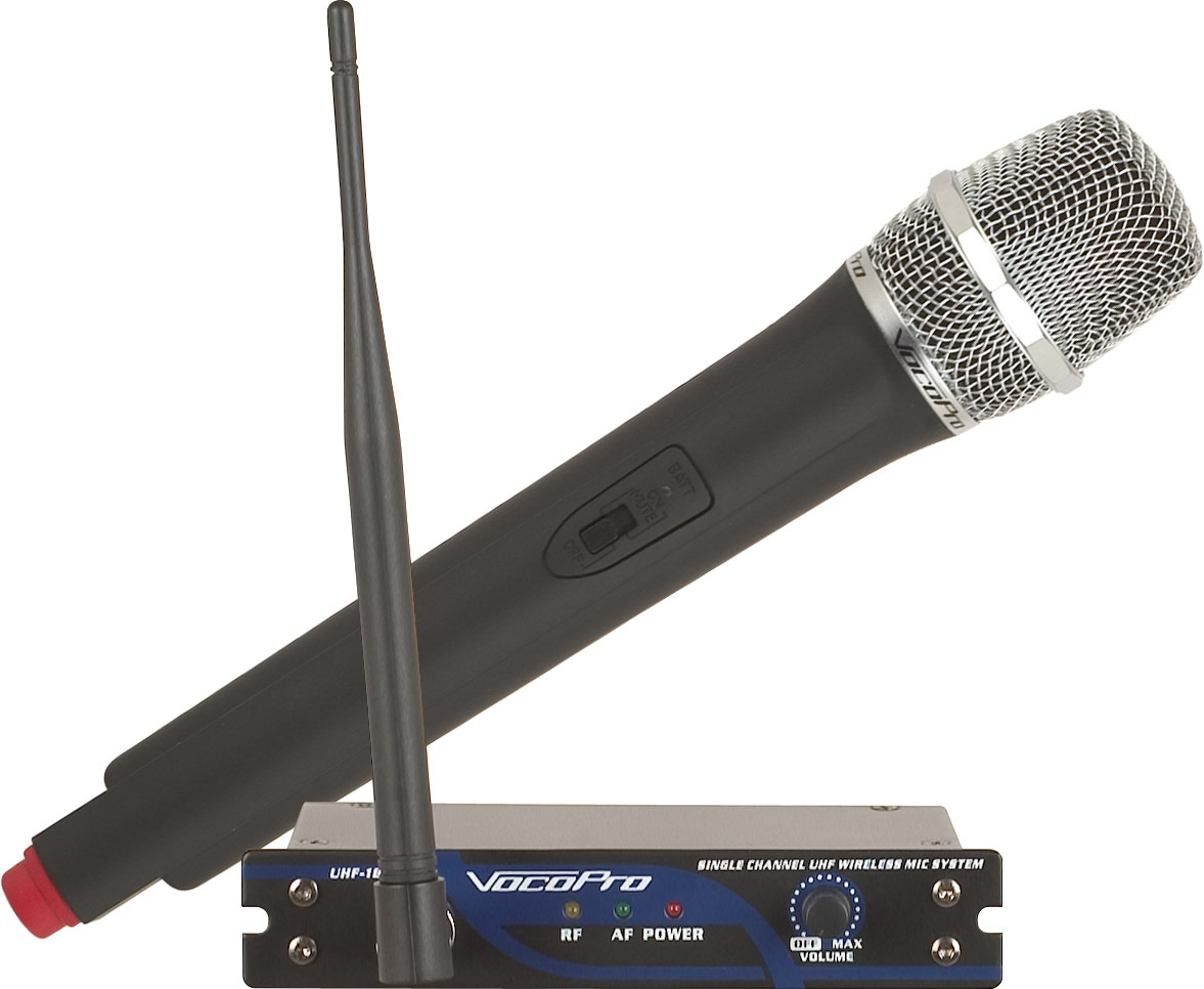 Vocopro UHF 18 Single Channel Wireless Mic System 900MHz