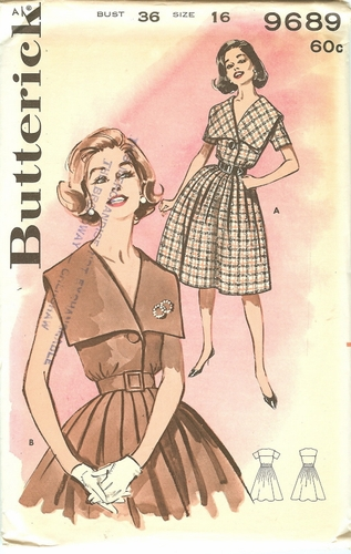 Butterick 9689 Dress, Bust 36""