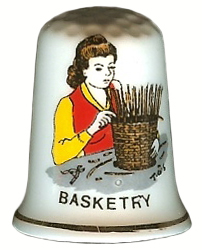 "Birchroft China ""Basketry"" Thimble"