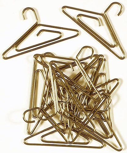 Antique Brass Mini Hanger Paper Clips