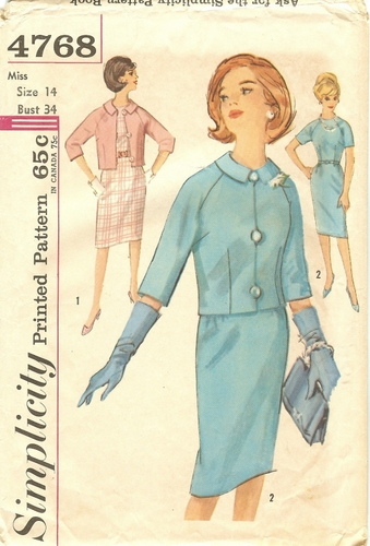 Simplicity 4768 Dress & Jacket, Bust 34""