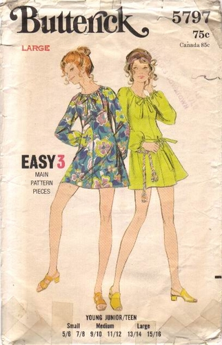 "Butterick 5797 Dress, Bust 33 1/2"" - 35"""
