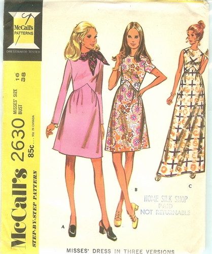 McCalls 2630 Dress,Bust 38""
