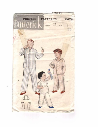 Butterick 6429 Pajamas