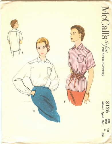 McCall's 3126 Blouses, Bust 36""