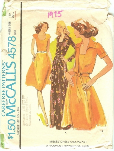 McCall's 4578 Dress & Jacket, Bust 32 1/2""