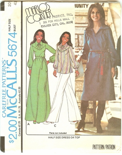 """McCall's 5674 Dress Or Top, Bust 43"""""""