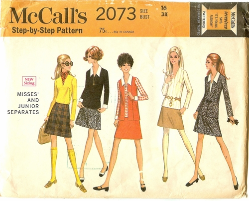 McCalls 2073 Jacket, Vest, Blouse & Skirt, Bust 38""