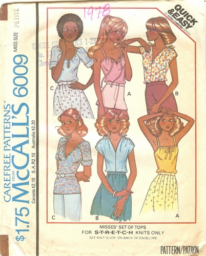 "McCall's 6009 Tops, Bust 30 1/2""-31 1/2"""