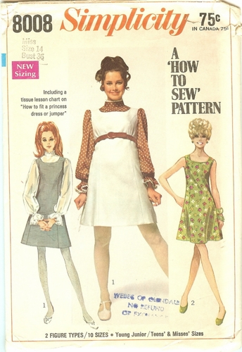 Simplicity 8008 Dress & Blouse, Bust 36""