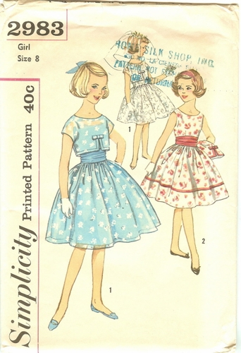 Simplicity 2983 Dress With Jacket & Cummerbund, Bust 26""