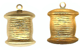 1 Dozen Gold Tone Spool Charms