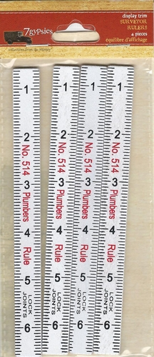 7 Gypsies Wooden Mini Surveyor Rulers
