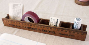 Decole  Wooden Ruler Box