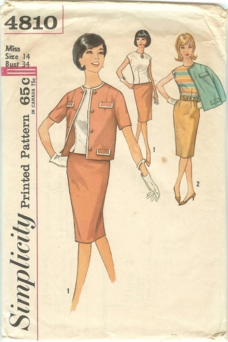 Simplicity 4810 Skirt,Top & Jacket,Bust 34