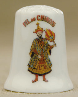 Sajou  Fil Au Chinois Bone China Thimble