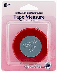 "Hemline 120"" Round Retractable Measuring Tape"