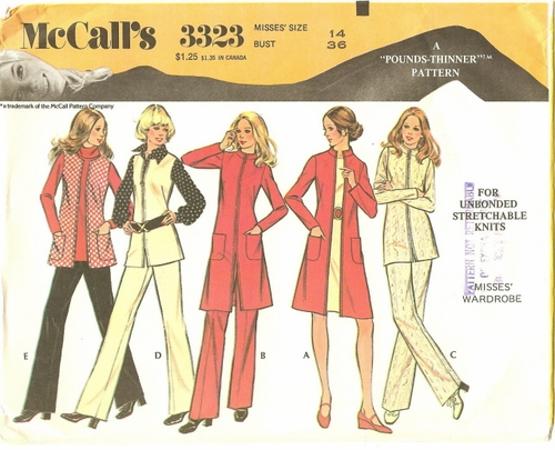 McCall's 332336 Tunics, Blouses & Pants For Knits, Bust 36""
