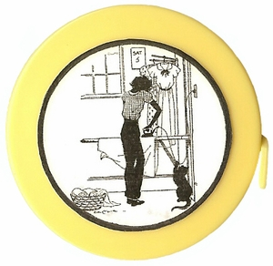 "Acme's ""Ironing Day"" Silhouette  Retractable  Measuring Tape"
