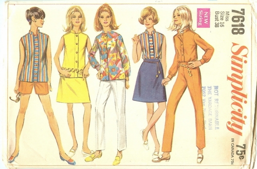 Simplicity 7618 Pants, Shorts, Skirt & Blouse, Bust 38""