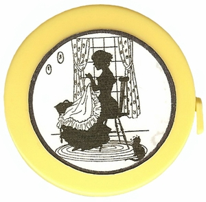 "Acme's ""Hand Sewing"" Silhouette  Retractable  Measuring Tape"