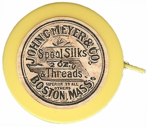 "Acme's ""Spool Silks & Threads"" Retractable Measuring Tape"