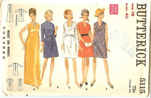 Butterick 5115 Dress,Bust 40""
