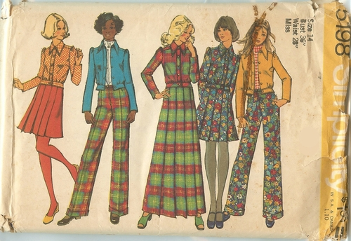Simplicity 5198 Jacket, Skirt & Pants, Bust 36""