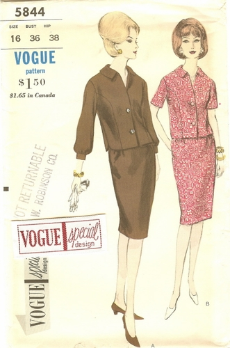 Vogue 5844 Top & Skirt, Bust 36""