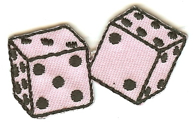 Mini Pink Dice Patch