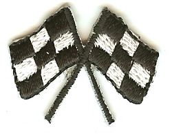 Mini Racing Flags Patch
