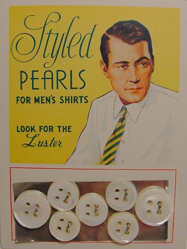 7  Mother-Of-Pearl Vintage Shirt Buttons