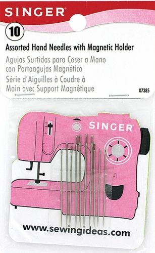 Singer Assorted Hand Needles With Magnetic Holder