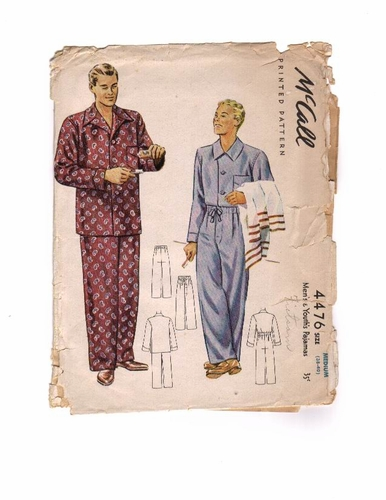 Mc Call 4476 Pajamas - A, Size Medium