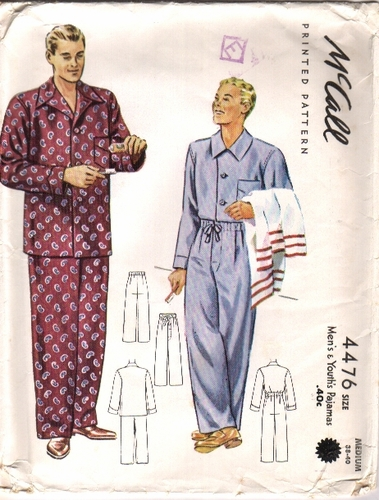 Mc Call 4476 Pajamas - C, Size Medium