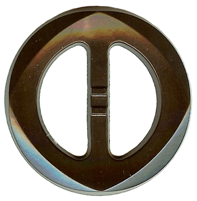 Vintage Brown Plastic Belt Buckle With Diamond Detail
