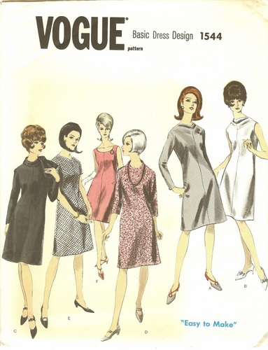 Vogue 1544 Basic Dress, Bust 38""