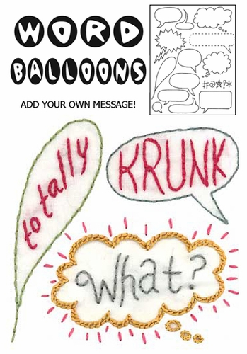 """Sublime Stitching """"Word Balloons"""""""