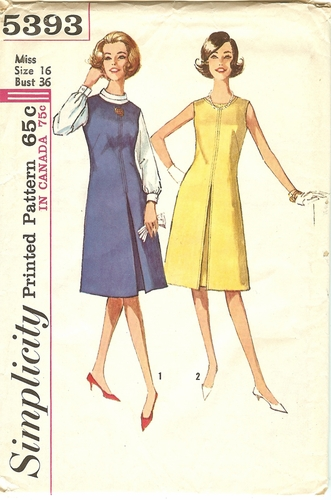 Simplicity 5393 Dress & Blouse Bust 36""
