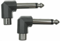 Hosa GPR-123 - Right-angle Adaptors RCA to 1/4 in TS 2 pc