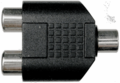 Hosa GRF-341 - Coupler 3.5 mm TRS to Dual RCA
